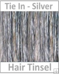 Hair Tinsel Tie In Silver