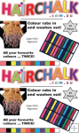 Hair Chalk Sticks - 24 Pack - Double Up ( 2 Packs )