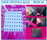 Hair Crystals Iron In - Blue