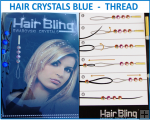 Hair Crystals Blue - Thread In