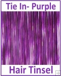 Hair Tinsel Tie In Purple