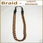 Braid Head Band - Light Brown