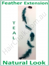 Hair Feathers Clip In - Natural Teal