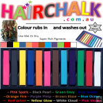 Hair Chalk Sticks - 12 Pack