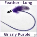 Hair Feathers Clip In Long - Grizzly Purple