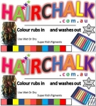 Hair Chalk Sticks - 12 Pack - Double Up ( 2 packs )
