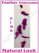 Hair Feathers Clip In - Natural Pink