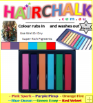 Hair Chalk Sticks - 6 Pack
