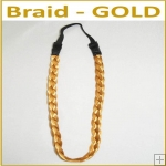 Braid Head Band - Gold