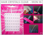 Hair Crystals Iron In - Clear