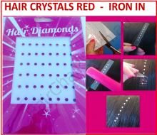 Hair Crystals Iron In - Red