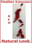 Hair Feathers Clip In - Natural Red